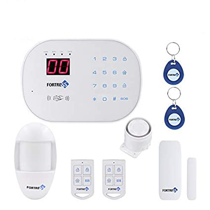 Compatible with Alexa- App Controlled Updated S03 WiFi Landline Security Alarm System Basic Kit Wireless DIY Home and Business Security System by ...