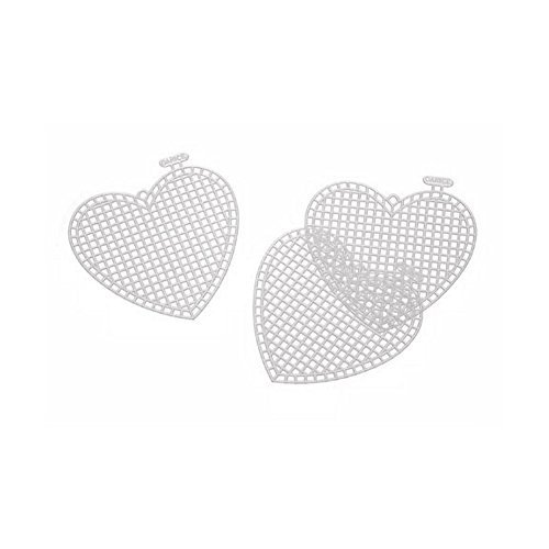 Heart Needlepoint Canvas (Heart-Shaped Plastic Canvas - 3 inches (10 pieces/Pack))
