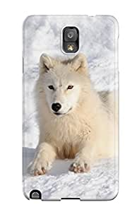 Galaxy Note 3 JemnOmi15012ssxrk Arctic Wolf Tpu Silicone Gel Case Cover. Fits Galaxy Note 3