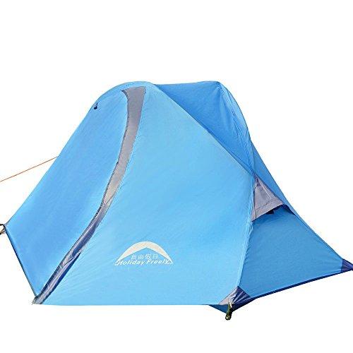 連鎖乱すリフレッシュ登山用テント アルミニウム単極超軽量ダブルアンチテニス風防日焼け止め防水テントアウトドアスポーツに適した
