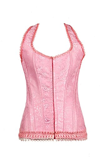 Dingang Womens Lace Vest Bustier Glamour Corset Bustier(skirt not - Glamour Bustier