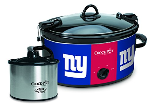 Crock-Pot New York Giants NFL Cook & Carry Slow Cooker with Bonus 16-ounce Little Dipper Food Warmer (Cook Ham In Crockpot)