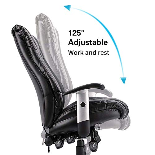 Smugdesk Executive Office Chair Ergonomic Heavy Duty Chair Leather Adjustable Swivel Comfortable Rolling Chair Photo #2
