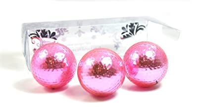 PINK METALLIC GOLF BALLS (sleeve of 3) - BLING BALLS! by Navika