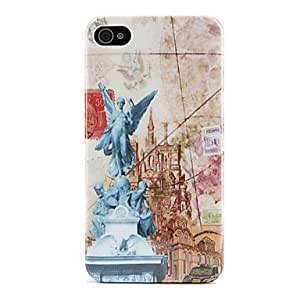 Statue Angel Pattern Style Hard Case for iPhone 4 and 4S (Multi-Color)