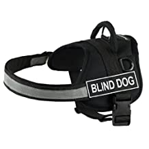 Dean & Tyler Works Harness, Blind Dog, X-Small-Fits Girth, 53cm to 66cm, Black