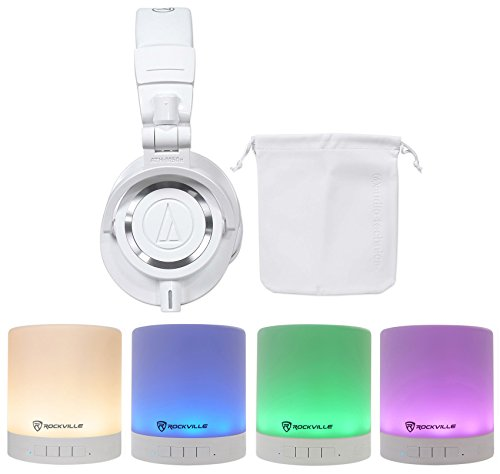 Audio-Technica-ATH-M50XWH-Over-Ear-Pro-Studio-Monitor-White-HeadphonesSpeaker