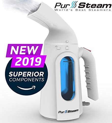 PurSteam Steamer for Clothes. Highest Quality, Fastest Heating InfaTherm Technology , 8-in-1, Wrinkle Remover- Clean- Sterilize-Refresh- Treat-, Auto Off (The Fastest Way To Clean Out Your System)