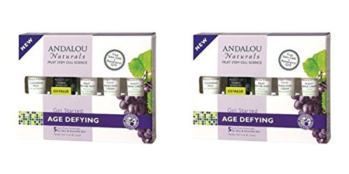 (2 PACK) - Andalou Get Started Age Defying Kit | 5 Piece Pieces | 2 PACK - SUPER SAVER - SAVE MONEY by SHERRIFFS - ANDALOU ORDER OLNY