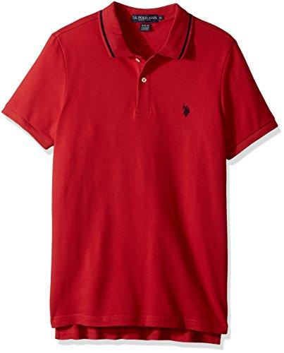 U.S. Polo Assn. Mens Slim Fit Solid Short Sleeve Pique Shirt