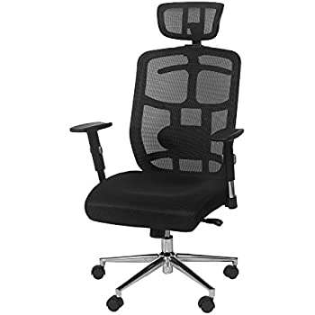 TOPSKY Mesh Computer Office Chair Ergonomic Design Chair Skeletal Back  Synchronous Mechanism(Black) Hanger