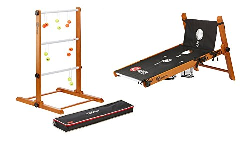 Uber Games Ladder Toss with Bag Toss Conversion Kit - Yellow and Orange by Uber Games