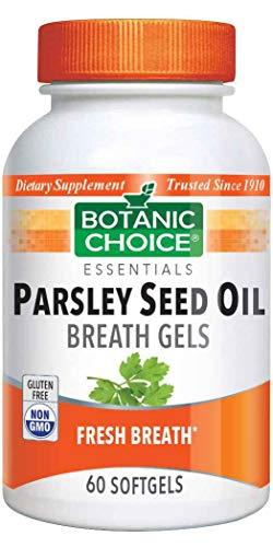 Rainbow Light Mint - Botanic Choice Parsley Seed Oil - Breath Gels,60 softgels
