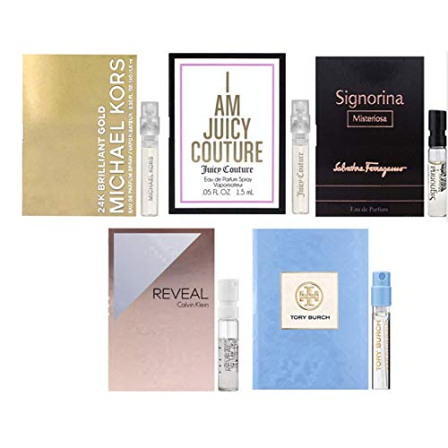 Women's fragrance Samples set of 5 - Lot of 5 High end Perfume Vials (I Am Perfume Sets)