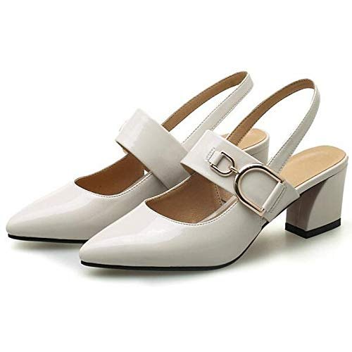 ZHZNVX Damenschuhe PU (Polyurethan) (Polyurethan) (Polyurethan) Sommer Basic Pump Heels Chunky Heel Weiß Schwarz 416eae