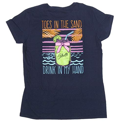 - Calcutta Ladies Toes in The Sand Short Sleeve T-Shirt Navy, Large