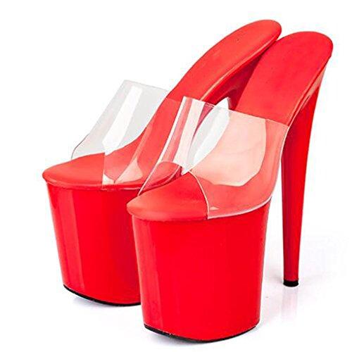 Femmes Fond Sandales A Femmes Cristal LLP Chaussures Ballroom Workplace Sandales Modèle épais Talon Haut Haut xHwqfvn