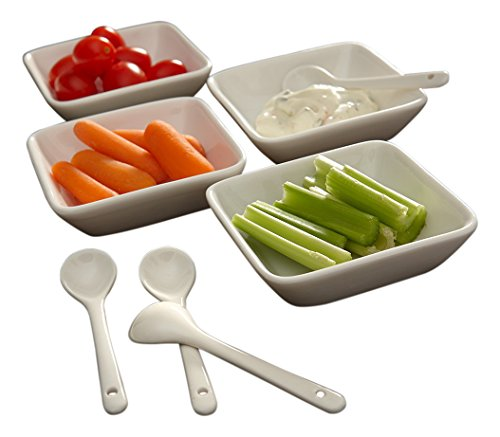Bone China Round 20 Piece Dinnerware Set, Service for 4