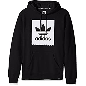 adidas Originals Men's Outerwear Blackbird Basic Hoodie, Black/White, Medium
