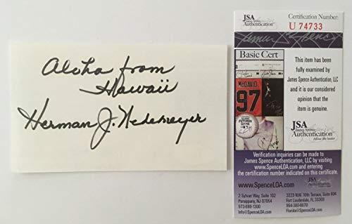 ographed Signed 3X5 Card Jsa Certified Hawaii Five-O ()