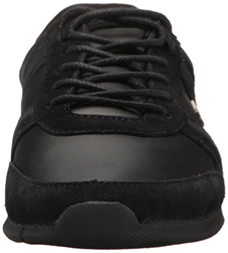 Lacoste Men's Menerva Sneakers,Black/Black Suede,11.5 M US