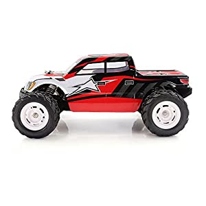 HIMOTO E12MTL RC Brushless Motor Racing Monster Truck 1/12 Scale 2.4G 2WD Electric Power Off Road Buggy Car with 50 km/h+ High Speed, Red