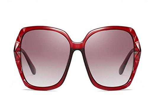 sol Gafas solar gafas femeninas de B sol BXH gafas cara era Bingbing Fan de sol protector redonda UV marea estrellas de WYL delgado B R7Twxx