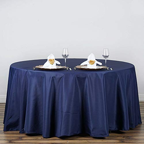 "Home Garden Blue Kitchen Dining 120"" Round Polyester Tablecloth 2pcs Tkvormart from Unknown"