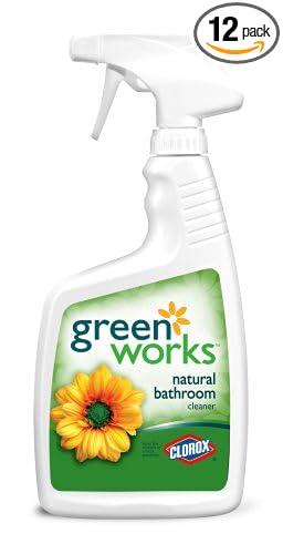 Amazoncom GreenWorks General Bathroom Cleaner Spray Ounce - All natural bathroom cleaner