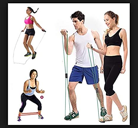 GRAND DELUX Bandas Elásticas Cuerda Saltar 3en1 Fitness Pack ...