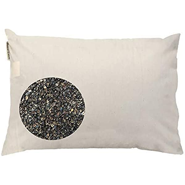 hhxiao Pillow Full Buckwheat Husk Pillows Cotton Muslin Buckwheat Hull Pillows High and Low Adjustable Pillow Cervical Pillows