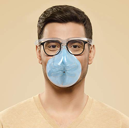 Durable_Mask Face Shields Combine Plastic Reusable Clear Face_Mask Glasses,Both Men and Women can Protect face