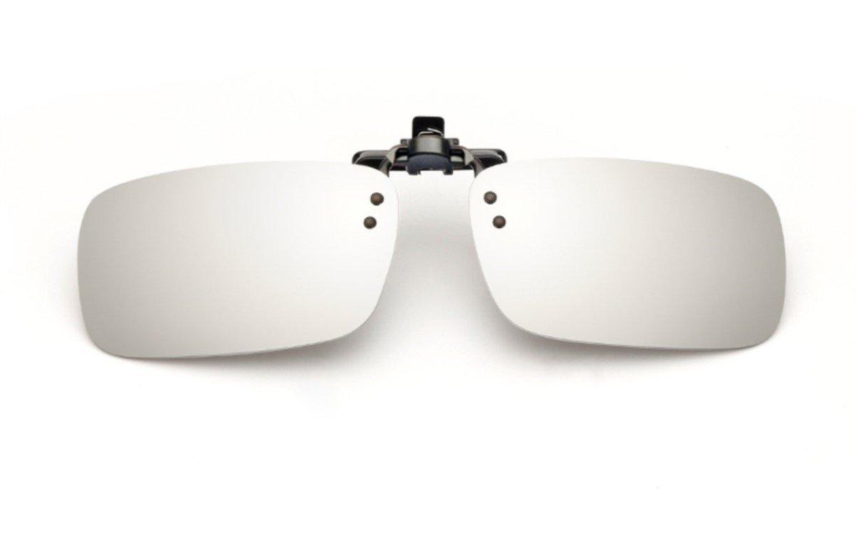 UK1stChoice-Zone Hombre Mujer Unisex Polarizado Clip en Las Gafas de Sol CLIPON0002 (Blanco Mercurio...