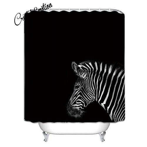 zebra fabric shower curtain - 8