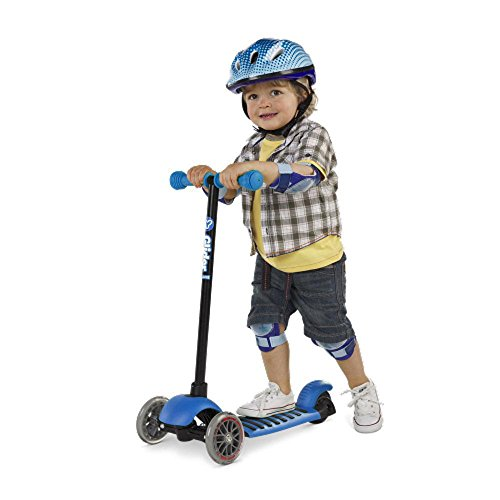 Yvolution Kid S Y Glider Deluxe Double Deck Scooter Blue