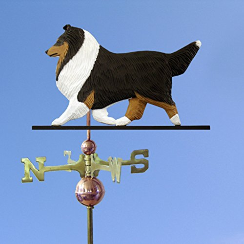 - Sheltie Hand Carved Hand Painted Basswood Dog Weathervane Tri, 22 Inch, No