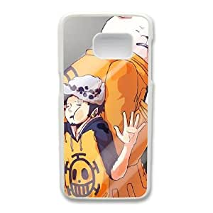 Custom made Case,Trafalgar Law and Bepo Cell Phone Case for Samsung Galaxy S7, White Case With Screen Protector (Tempered Glass) Free S-7294081