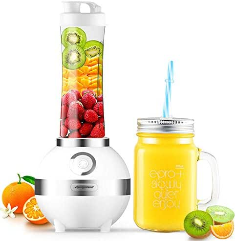YL Portable Juicer, Juicer for Fruits and Vegetables, Household Mini Fruit and Vegetable Electric Juicer Single Blade Mixing 1 Speed and Low Noise