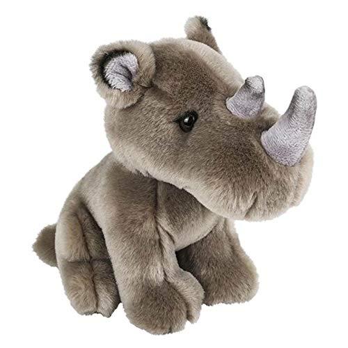 ffed Rhino Rhinoceros Plush Posed Animal Kingdom Collection ()