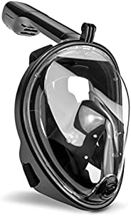 Snorkel Mask Full Face Diving Mask, EKOOS Seaview 180° Panoramic Full Face Design 2019 Newest Version with Det