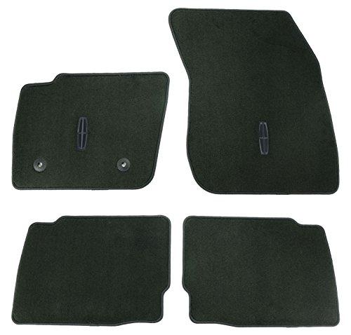Oem Factory Stock Genuine 2013 2014 2015 MKZ Black Ebony Carpet Floor Mats Set 4-pc Front & Rear W Logo