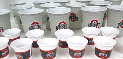 Ohio State 36 Drinking Cups barbecue cookout 4th of July Shot cups and Jumbo 18 oz party cups