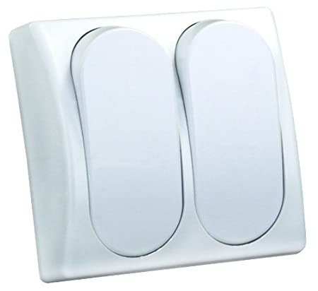 JR Products 13575 White SPST Modular On//Off Single Switch
