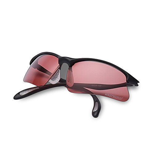 KastKing Polarized Sports Sunglasses for Men Women Baseball Running Cycling Fishing Golf (Roadster - Rose Lens Sunglasses