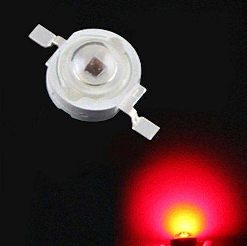 Gardening Growing Lamps - ZX 5pcs 1W 660nm Red Plant Growing LED Lamp Chip Garden Greenhouse Seedling Lights by Unknown (Image #2)