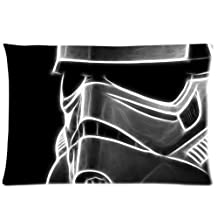 Star Wars Stormtrooper Mask Custom Pillowcase Bedroom Design Two Sides Throw Pillow Case Cover 20x36 Inchs Movie TV Series Pillowcases pattern 28