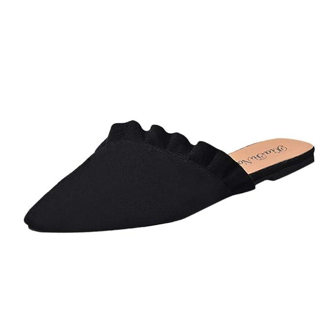 Amazon.com: Mule Slides, Womens Backless Slip On Mocasines ...