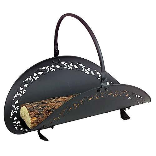 Filigree Indoor Firewood Rack - Black