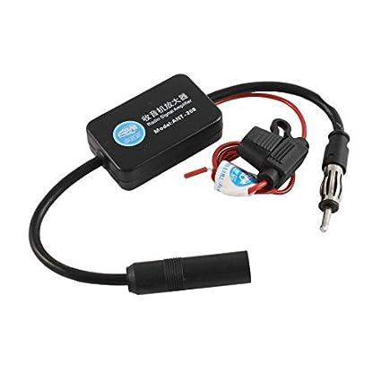 Rádio FM Amplificador Antena Signal Booster DC 12V