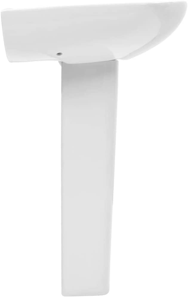 Festnight Lavabo de pie Lavabo con Pedestal en Cerámica Blanco 65x52x20 cm: Amazon.es: Hogar